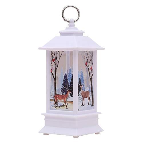 Decorazione di Natale a LED Candeliere a sospensione Xmas Mini Lampada da tavolo Decor Wind Light