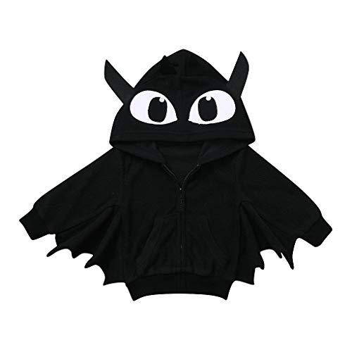 SUMTTER Halloween Baby Kapuzenjacke Fledermaus Cosplay Kostüm für Nette Neugeborenes Baby Jungen Mädchen