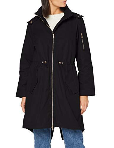 Armani Exchange Womens Caban Coat Trenchcoat, Black, XS