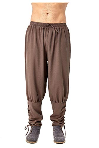Boomtrader Men's Spring Summer Autumn Ankle Banded Pants Viking Trousers Renaissance Gothic Pants (3