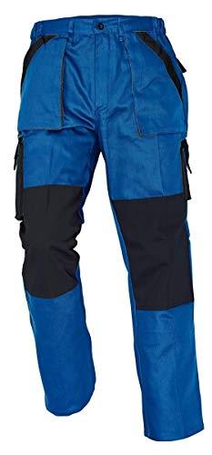Stenso MAX - Herren Praktisch Arbeitshose Bundhose/Cargohose Baumwolle Blau 62