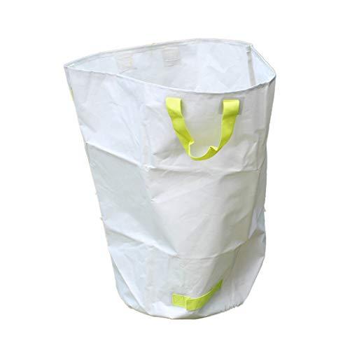 Laisse le sac propre, protection contre le frottement de forte capacité et forte de capacité élevée avec le sac à ordures de jardin de plantes et de plantes de jardin, blanc (taille : 50 * 70CM)