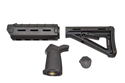 BIG DRAGON製 トイガン専用 MAP MOEタイプ ハンドガード グリッップ ストックセット 3点セット (ブラック 黒)