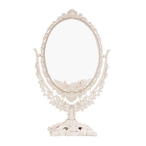 Flyinghedwig - Espejo de tocador de doble cara con diseño de espejo retrovisor de doble cara, estilo vintage, para dormitorio, baño, estilo Shabby Chic