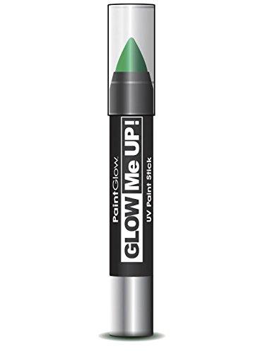 COOLMP Lote de 12 lápices de Maquillaje Verde Fluorescente UV, 3 g, Talla única, Maquillaje de Fiesta, Cabello, Piel, Labios, Ojos, Carnaval, Fiesta de Disfraces, cumpleaños,