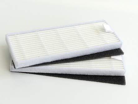 Lot de 2 filtres à poussière fine pour robot aspirateur ILFE & ZACO A4, A6, A8