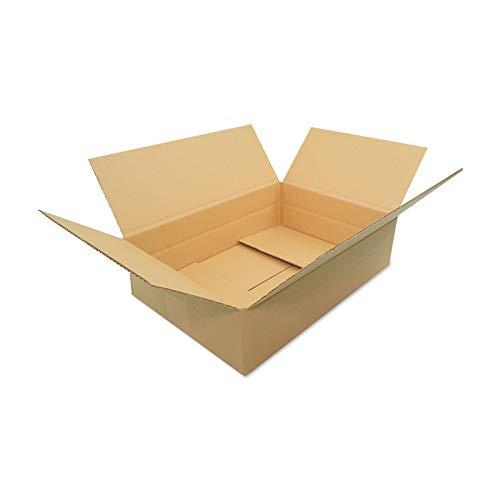 100 Verpacking Faltkartons 350x250x100mm braun KK-S 1 wellig für DHL Päckchen S rechteckiger Versandkarton für kleine Waren kleine Kartons