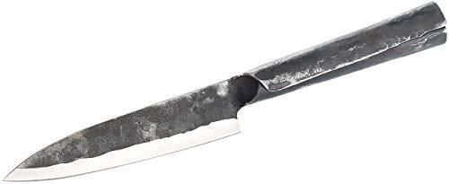 TokioKitchenWare Kochmesser: Allzweckmesser mit 16-cm-Klinke und Stahlgriff, handgefertigt (Asien-Messer)
