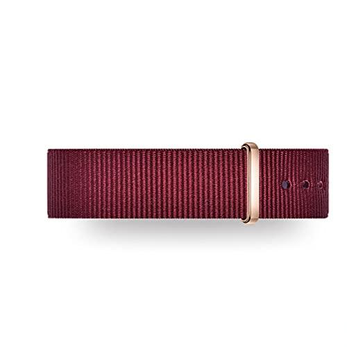 FJXJLKQS Correas de Reloj de Repuesto de Nailon de Primera Calidad para Hombres y Mujeres, Relojes y Relojes Inteligentes Reemplazo de Malla Correa de Reloj Transpirable,Red-17mm