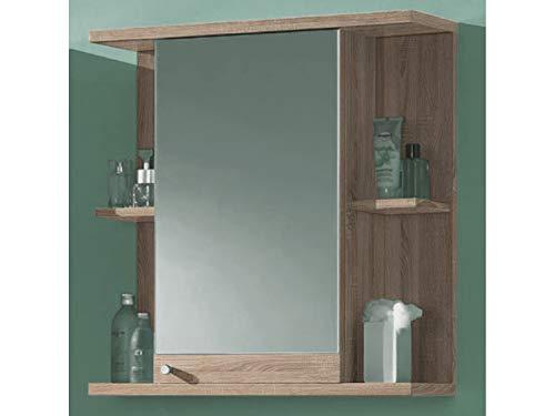 Spiegelschrank Badschrank Hängeschrank Badspiegel Schrank Badmöbel Paignton I Sonoma-Eiche