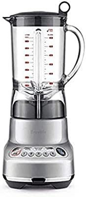 """Breville BBL620SIL The Fresh and Furious Countertop Blender, Silver, 17.2"""" x 8.05"""" x 6.9"""""""