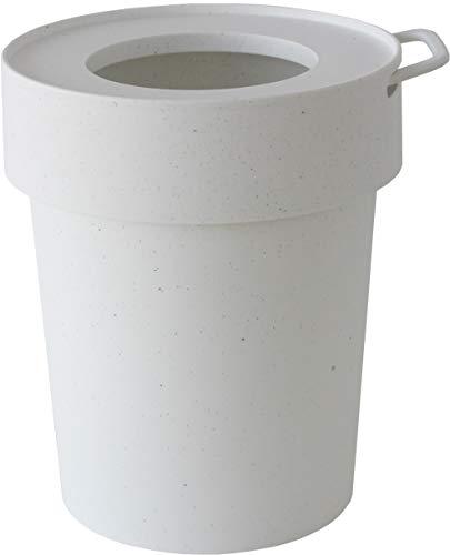 八幡化成 フタ付きゴミ箱 ホワイト Lサイズ 10L way-be TAPTRASH(タップトラッシュ) 240006