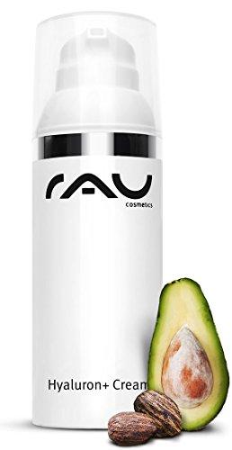 RAU Hyaluron plus Cream (50 ml) - Tagescreme mit UV Schutz und Hyaluronsäure - Anti Aging gegen Falten und Trockene Haut
