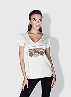 Creo Boombox Retro T-Shirts For Women - S