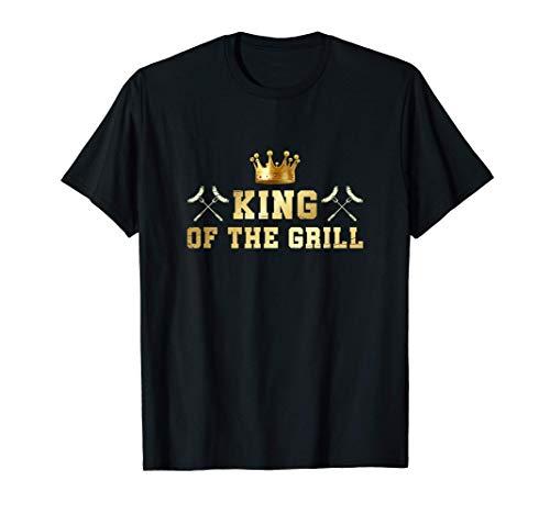 Rey De La Parrilla Divertido Carne Ahumada BBQ Chef Barbacoa Camiseta
