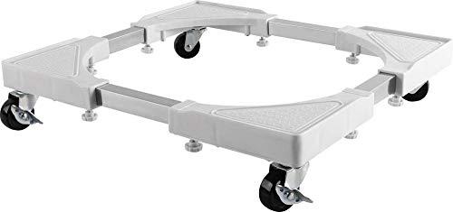 mywall HZ22WL Cadre à roulettes pour appareils ménagers – Idéal pour Machines à Laver/sèche-Linge jusqu'à 200 kg Blanc