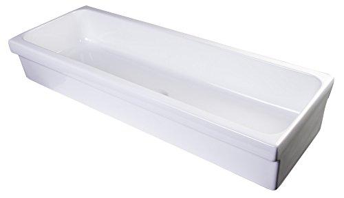 ALFI brand AB48TR Bathroom Trough Sink, 48', White