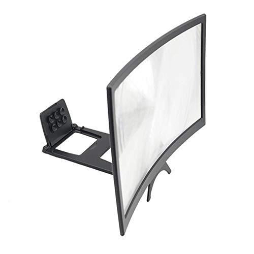 CVBN Amplificador de Pantalla Curva para teléfono móvil, protección Ocular con Lupa Curva, Negro