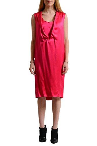 Cedric Charlier Silk Pink Sleeveless Women's Sheath Dress US 6 IT 42