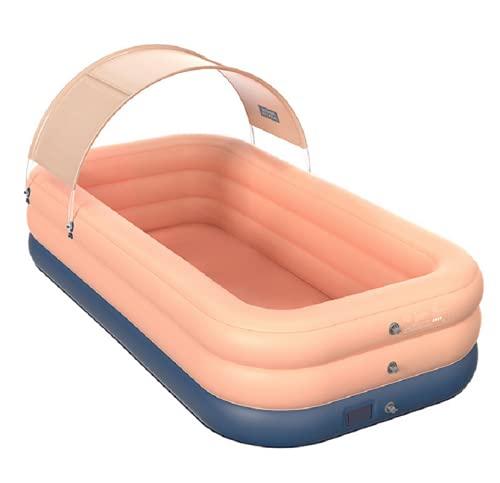 cute100% Sombrilla Piscina Inflable Automática Inalámbrica Hogar Piscina para Niños Bebé Piscina Cubierta de Plástico Al Aire Libre
