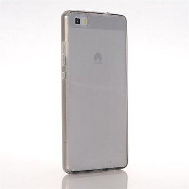 Belle casse, custodie, Tuta Ultrasottile Tinta unita TPU Morbido Copertura di caso per Huawei Huawei P8 Lite ( Colore : Nero , Modello compatibile : P8 Lite )