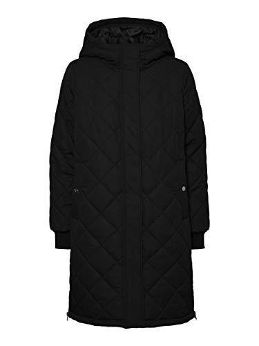 VERO MODA Damen VMLOUISE 3/4 Jacket NOOS Mantel, Black, S