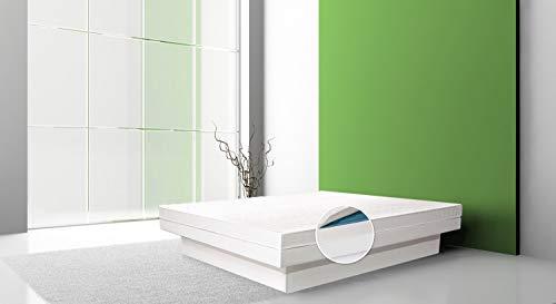 Aqua Sense Komplett Wasserbett Split 180x200 mit Sockel/Podest - 60% beruhigung - einschließlich Dual Wasserkern/Wassermatratze - Wasserbett Heizung - Bezug