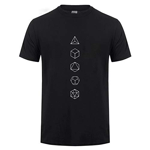 Platonic Solids Sacred Geometry Evolution Funny T Shirts For Men Short Sleeve O Neck Cotton T-Shirt Summer Tops tee Man Clothing