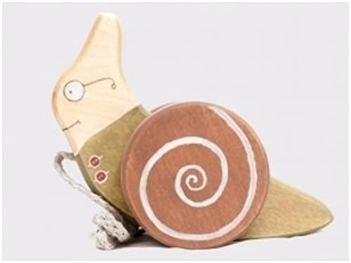 Die Holz Pferd-Handarbeit gezogen Schnecke
