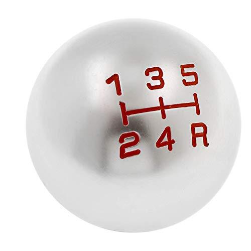 ENET - Pomo Universal de Cambio de Marchas, 5 velocidades, Bola Redonda de Aluminio MT Manual para Coche