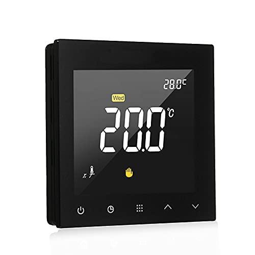 Termostato, termostato inteligente WiFi programable agua calefacción por suelo radiante controlador de temperatura pantalla táctil a color con aplicación de control remoto