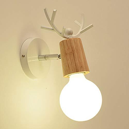 Lámpara de pared vintage de madera, para montaje en pared, decoración minimalista con base para el hogar, sala de estar, dormitorio