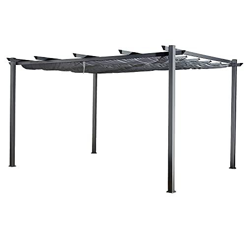 Happy Garden Pergola autoportante 3 × 4m Cassis Grise - Structure Aluminium