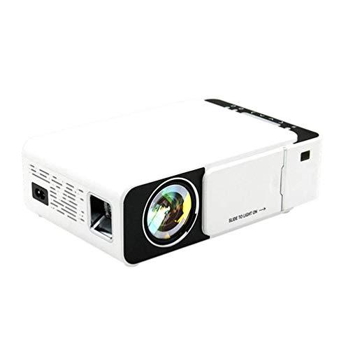 SMSOM Mini proyector, proyector portátil de 1080p HD, Compatible con TV Stick Video Game HDMI USB AV DVD para el Cine en casa Multimedia, proyector para Exteriores
