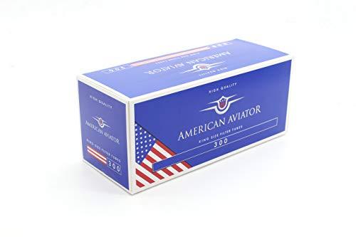 AMERICAN AVIATOR 1500 Tubos Vacíos con Filtro de 8 mm x 15mm para Tabaco de Liar (5 cajas de 300), fabricado en EU