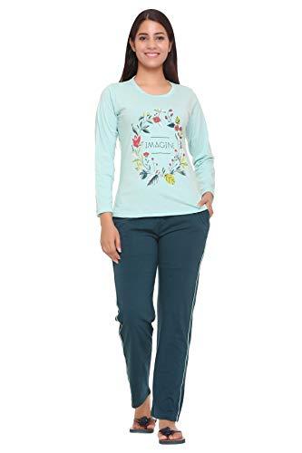 Duchess Women's Printed Cotton Top and Pyjama Night Wear Suit...