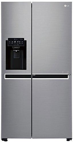 LG GSJ 761 PZUZ - Side-by-side americano con dispenser di acqua e ghiaccio - No Frost - Multi Airflow System - 601 litri, acciaio INOX - A++
