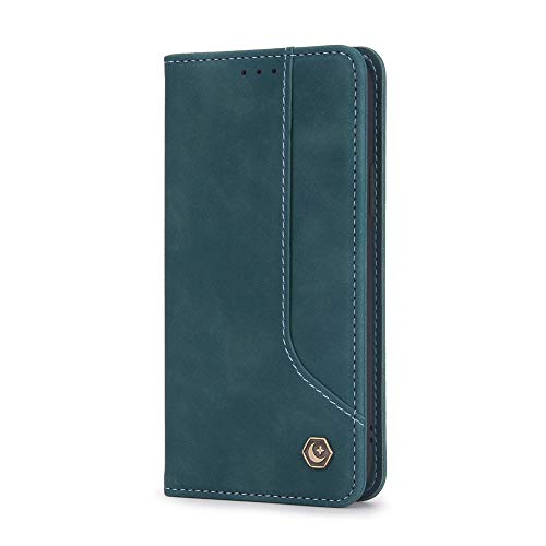 Preisvergleich Produktbild Easyshow Wallet Hülle Kompatibel mit Xiaomi Poco X3 NFC, Flip Leder Handyhülle für Xiaomi Poco X3 NFC-Blau
