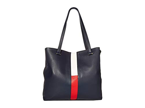 Tommy Hilfiger Carolina Smooth PVC Tote Navy/Red/White One Size