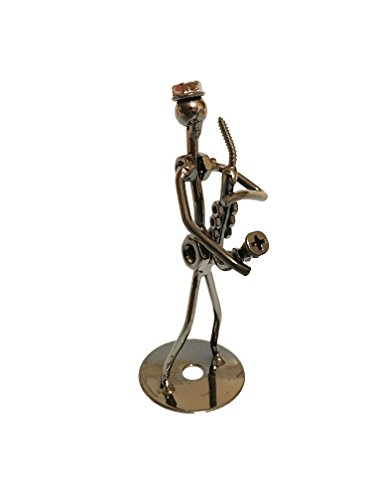 Metal Saxophone Player Figurine