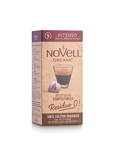 Cafés Novell Cápsulas Compostables con café Ecológico - Intenso - 20u (1885)