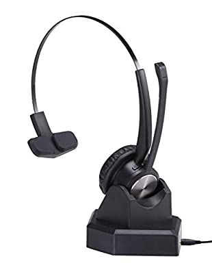 MAIRDI Wireless Telephone Headset with Noise Cancelling Microphone for Call Centers Offices Bluetooth Headset for Cell Phone PC Skype Softphone Car Trucker Driver Over the Head with Charging Dock by Xiamen Mairdi Electronic Technology Co. Ltd