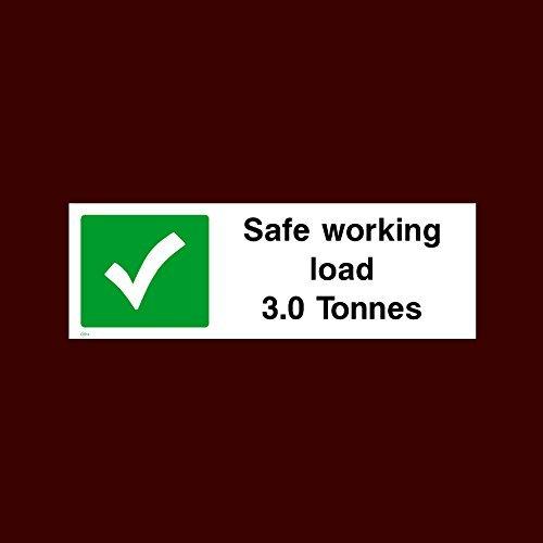 Safe Working Load 3 Tonnen Aufkleber selbstklebende Vinyl-Warnaufkleber, verschließbar (Gs14) – Keep Clear, Service, Mott, Rezeption, Reifen, Teile