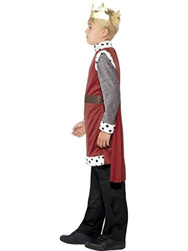Smiffys Kinder King Arthur Kostüm, Mittelalterliche Tunika mit angebrachtem Umhang und Krone, Größe: S, 44079 - 3
