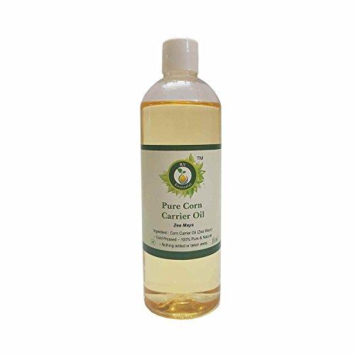 Aceite de maíz   Zea Mays   Para piel   Para cocinar   Sin refinar   Puro aceite de maíz   100% natural puro   Aceite de maíz prensado en frío   Corn Oil  100ml   3.38oz By R V Essential
