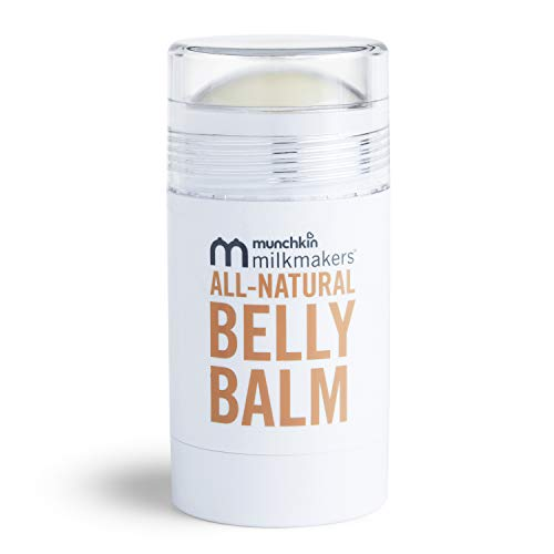 Munchkin Milkmakers All-Natural Moisturizing Belly Balm for Pregnancy Skincare with Mess-Free Applicator