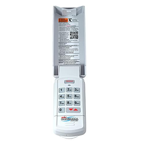 Genie GUK-R Wireless Universal Garage Door Opener Keypad, Works on all major brands, 3, White