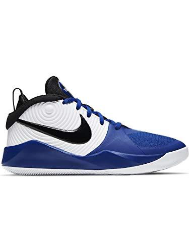Nike Kid's Team Hustle D 9 (GS) Basketball Shoe, Game Royal/Black-White, 3.5 US