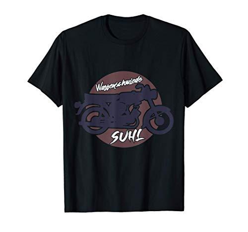 Waffenschmiede Suhl 2 Takt Moped Simson S51 T-Shirt