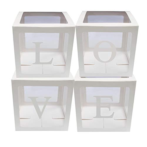 4 unids/set Baby Shower Party Decor Caja de cartón transparente caja de regalo de Navidad para niños niñas baby shower nupcial ducha